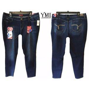 NWT 24 YMI Fit Solution Denim Skinny Stretch Jeans